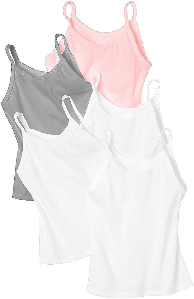 Hanes Girls' Cami 5-Pack_Wardrobe_Medium