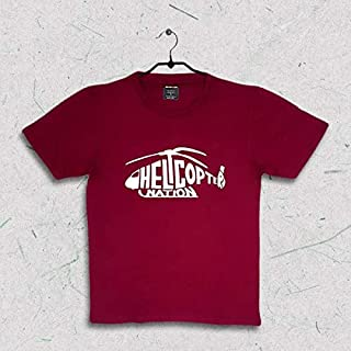 Helicopter Nation Maroon T-Shirt