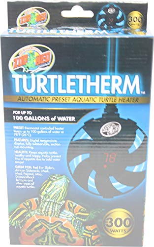 Zoo Med Turtletherm Automatic Preset Aquatic Turtle Heater, 300 Watt, Up to 100 Gallons