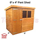Total Sheds 6ft (1.8m) x 4ft (1.2m) Shed Pent Shed Garden Shed Timber Shed