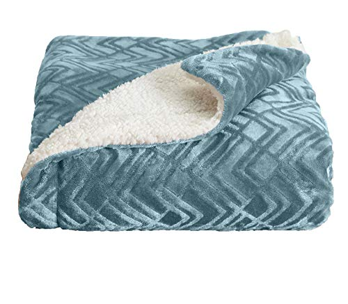 Home Fashion Designs Premium Reversible Sherpa and Fleece Velvet Plush Blanket. Fuzzy, Soft, Warm...