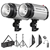 Neewer 600W Photo Studio Monolight Strobe Flash Light Softbox Lighting Kit with...