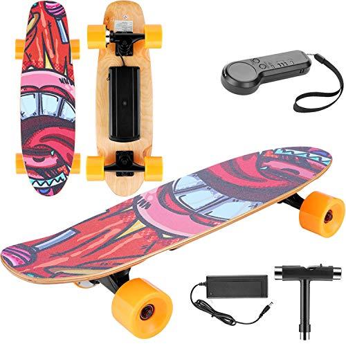 keland Skateboard Eléctrico con Control Remoto,Patineta Eléctrica para Adulto Adolescente,65cm Monopatín Eléctrico...