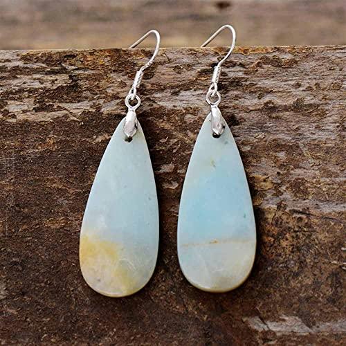 ACEACE Mujeres Pendientes de Gota Natural Lágrima Pendientes Pendientes Diseñador Pendientes de Lujo Piedras Naturales Joyería