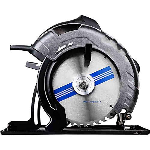 CNRGHS elektrische cirkelzaag, handcirkelzaag, 2000 W houtbewerkingsmachine voor het huishouden, multifunctionele elektrische cirkelzaag van 9 inch (9 inch) met geïntegreerde gietijzeren grondplaat