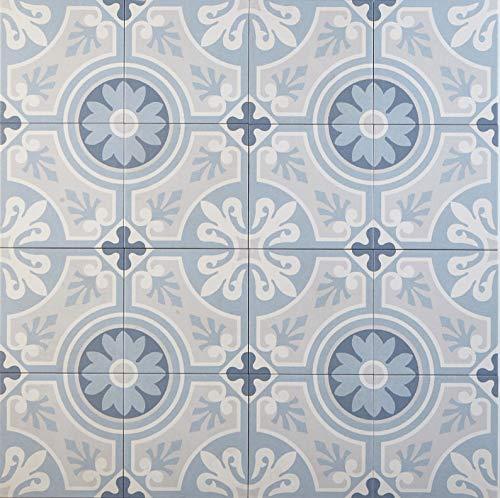 Casa Moro Marokkanische Fliesen Ziad 20x20 cm 1 qm aus Feinsteinzeug | Bodenfliesen & Wandfliesen für schöne Küche Flur & Badezimmer | FL7016