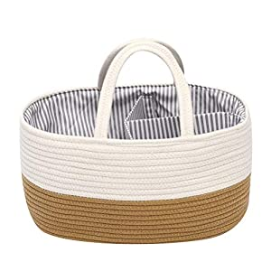 Baby Stroller Kindergarten Storage Box, Portable Storage Bag and Changing Storage Bag, Newborn Shower Gift Basket, Used to Store Cosmetics, Handicrafts and Books, or Store Baby Snacks or Toys