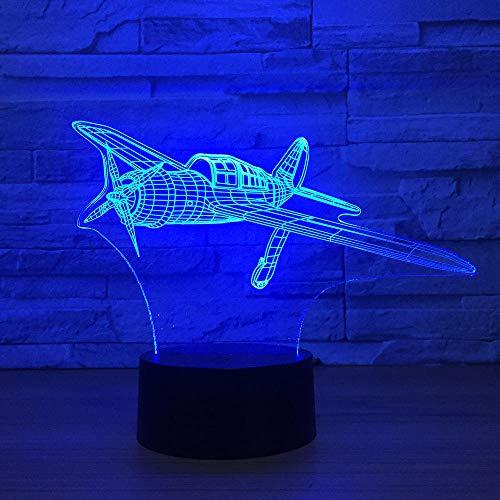 3D Illusion Lampe Led Nachtlicht Cooles Flugzeugmodell Acryl Touch Jet Flugzeug Tischlampe Kinderbett Home Decor Sleeping Light Kindergeschenk
