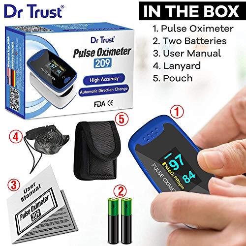 Dr Trust NL 50D Finger Tip Pulse Oximeter - 209 (Blue)