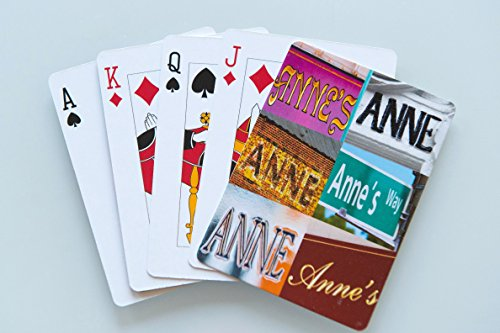 ANNE Personalized Playing Cards - featuring photos of actual signs