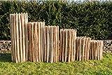 Staketenzaun Haselnuss Höhen 50 cm - 120 cm, Länge 5 Meter, Lattenabstände 3-5 cm und 7-9 cm (Länge x Höhe: 500 x 80 cm, Lattenabstand 7-9 cm)