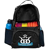 Dynamic Discs Cadet Disc Golf Backpack | Black/Black | Frisbee Disc Golf Bag with 17+ Disc...