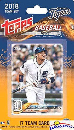 Detroit Tigers 2018 Topps Baseball EXCLUSIVE Special Limited Edition 17 Card Complete Team Set with Miguel Cabrera, Michael Fulmer & Many More Stars & Rookies! Shipped in Bubble Mailer! WOWZZER!
