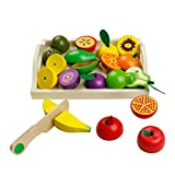 jerryvon Giochi in Legno Taglio Frutta Verdura Bambini Legno Montessori Educativo Giocatto...