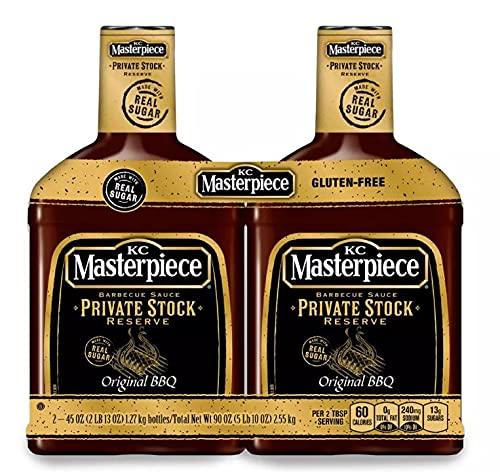 Kc Masterpiece Private Stock Reserve BBQ Sauce 2-45oz