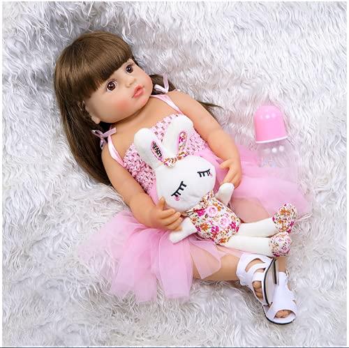 SWEGFDHNT MuñEca De Renacimiento Realista - 55 Cm 22 Pulgadas MuñEca Realista Renacida, Silicona De Cuerpo Entero MuñEca Real, For 3-10 Baby Gifts