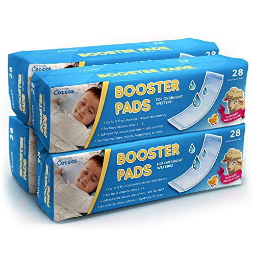 Cozees Baby Booster Pads, 112 Count with Adhesive - Diaper...