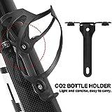 DAUERHAFT Soporte de inflado Soporte de Botella de CO2 Soporte de Botella de CO2 Soporte de Botella de CO2, para Bicicletas de montaña(Black)