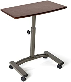 New Portable Stand Laptop Table Rolling Desk Cart Notebook Couch Mobile Adjustable Work Station! #211