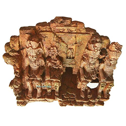 LOOPIG Antike Ägyptische Ruinen Ornament Tempelaquarium Dekoration für Aquarium Terrarium