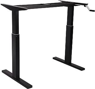 FlexiSpot スタンディングデスク 昇降デスク 高さ調節PCデスク 手動式オフィステーブルブラックH2B