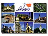 City Souvenir Shop Foto-Magnet I Love Leipzig