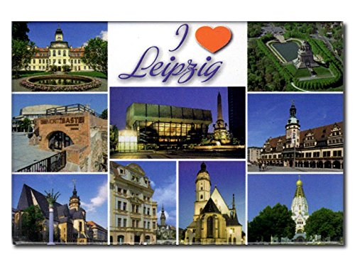 City Souvenir Shop Foto-Magnet I Love Leipzig