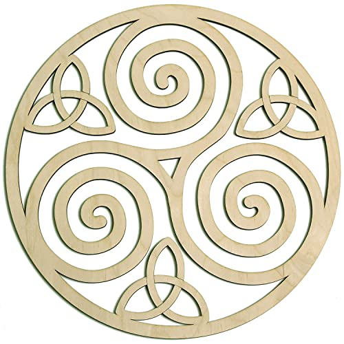 Triskelion Celtic Knot, Triskele Knot Wooden Wall Art 12', Celtic Art, I Irish Symbols,Celtic Triple Spiral, Celtic Decor, Irish Wall Art, Triple Helix Spiral, Fourth Level Mfg. Designs