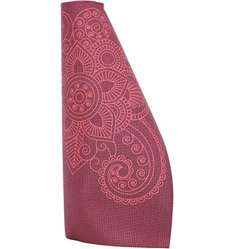 Lotus Design Yogamatte Mandala Muster Bedruckt 4mm rutschfest, Bunte Yogamatten für Anfänger und Fortgeschrittene, Gute Pilatesmatte und Gymnastikmatte mit Druck, leicht, waschbar, 183 x 61 x 0,4 cm