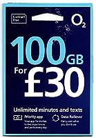 「O2 」O2【イギリス含むヨーロッパ各国対応】 プリペイド シムカード ヨーロッパ用 100GB ヨーロッパ、アジア、アメリカ使用可能(100GB さらに現地通話無制限 3000 SMS 30日間)
