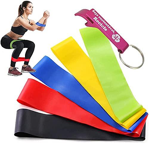 Kit 5 Faixas Elásticas Thera Band Exercício Pilates Yoga +Chaveiro CBRN15825