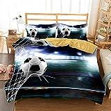 Bettwäsche-Set 260x220cm 80x80cm Kreativität Cartoon Sport FußballBettwäsche für Teenager &...