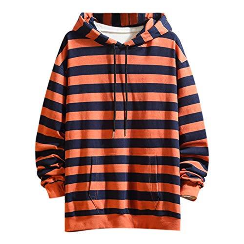 POachers Sweatshirt Homme, Hoodie Pull À Capuche Manches Longues Casual Rayure Pullover Sweat À Capuche Sweat-Shirt Chemisier Manteau Tops Jacket Manteau Blouson M-4XL