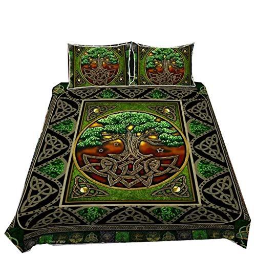 kathshop Beautiful Irish Quilt Bedding Set Tree of Life