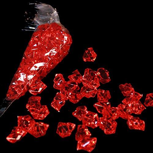 3 x Pierres acrylsteine/rouge 25 mm x 20 mm/pierre/32 pierres par sachet