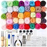 Namner - Kit de inicial para fieltro de aguja, juego de 40 colores para lana de oveja con herramienta de fieltro, instrucciones incluidas (idioma español no garantizado)