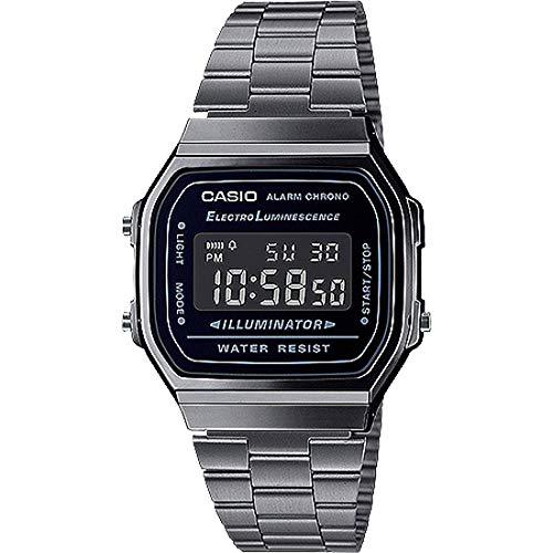 Casio G-Shock Unisex A168WGG-1BVT Digital Vintage Watch Silver