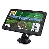 GXXDM Sat NAVS para automóviles, navegador de 5 Pulgadas, Sistema de navegación GPS, Pantalla táctil HD con mapas del Reino Unido/UE/Mundo, código Postal, búsqueda de Puntos de Inter