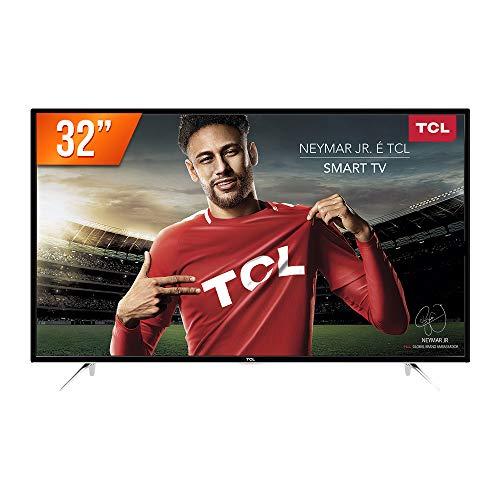 Smart TV LED 32' HD, TCL L32S4900S, Preta