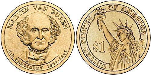 2008 D Martin Van Buren, 25-coin Bankroll of Presidential Dollars Uncirculated