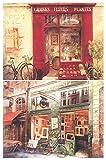 Cuadro artístico Decorativo. Set de 2 Unidades de 19 cm x 25 cm x 6 mm unid Adhesivo FÁCIL COLGADO. Adorno Decorativo Pared Ideal para Hogar/Cocina/Cafetería.