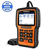 FOXWELL Professional Full-System Reset Tool for BMW Automotive OBD2 Code Reader Car Diagnostic Scanner NT510 Elite Full Systems All Functions with SRS TPMS SAS Oil Battery Replacement[Latest Version]