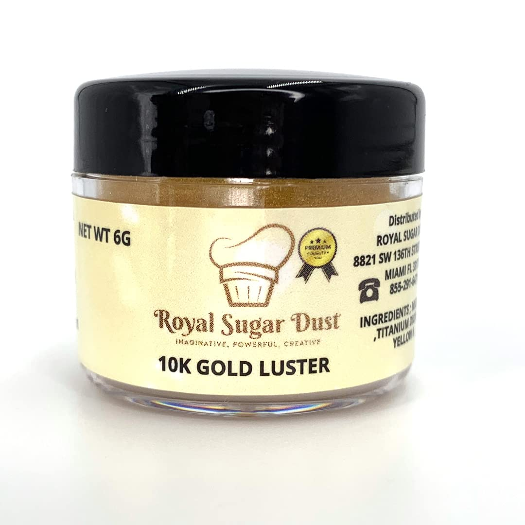 Sales results No. 1 Free Shipping Cheap Bargain Gift 10K LUSTER DUST EDIBLE CAKE DESSERT AND 6 -GOLD GRAMS