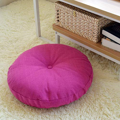 QYN Solid Color Round Soft Seat Pad,thicken Breathable Washable Seat Cushion Household Floor Mat Chair Cushion-d 40x40cm(16x16inch)