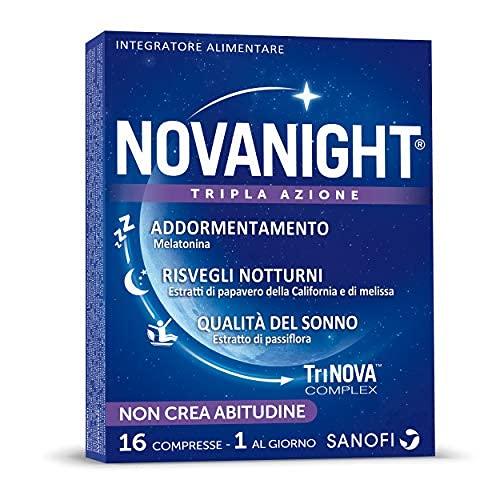Novanight Tripla Azione Integratore Alimentare con Melatonina, Estratti di Papavero della California...