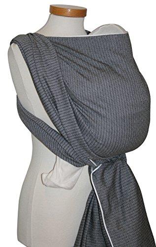 Storchenwiege Tragetuch - Leo Schwarz Weiß 4,60m