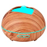 Essential Oil Diffuser Humidifier Vaporizer - Aromatherapy Ultrasonic Cool Mist Air 7 Color Night...