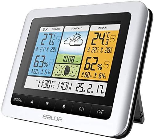 HK Digital Hygrometer Innenthermometer, Luftfeuchtigkeitsmesser Indikator Zimmer eingebaute Uhr und Zeitanzeige, genaue Temperatur-Feuchtigkeits-Monitor-Messinstrument für Haus, Büro, Gewächshäuser