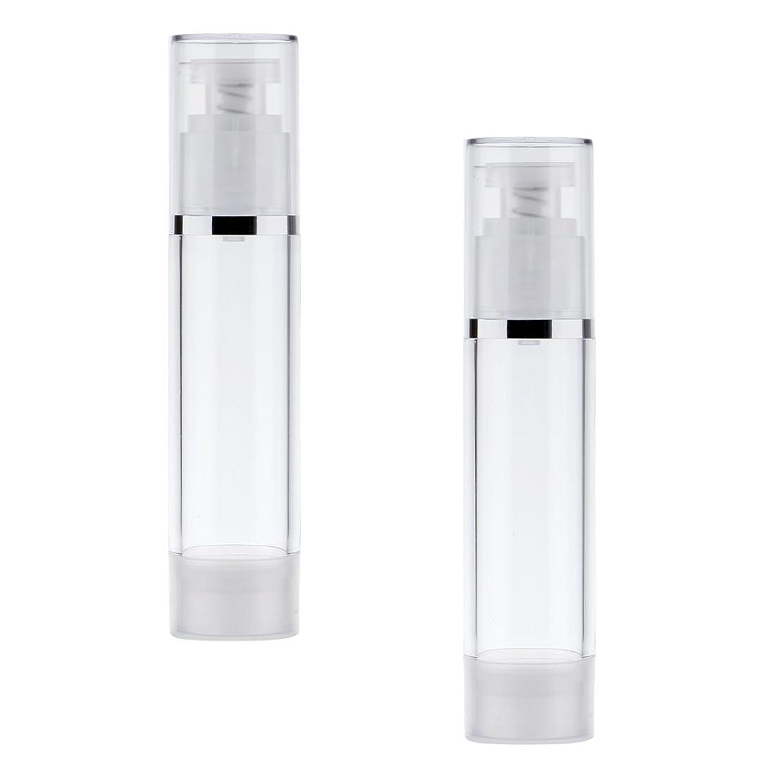 皿不正確家主Kesoto 2個 ポンプボトル ポンプチューブ エアレスボトル ディスペンサー コスメ 詰替え DIY クリーム ローション 3サイズ選べる - 50ml
