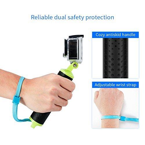 Crosstour Schwimmender Handgriff Unterwasser Handstick Monopod Pole Selfie Stick Apeman/Campark/Victure Action Kamera